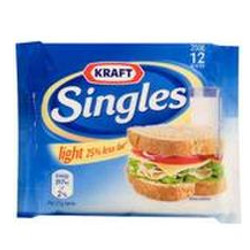 Singles Cheese Slices Light (25% Fat Free)
